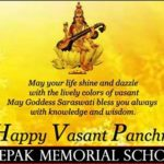 Wishing happy Basant Panchmi | Deepak Memorial School